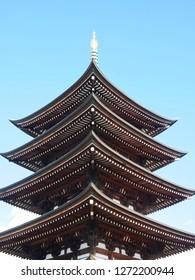 Five-story pagoda in Nittai-ji (Temple in Nagoya).
