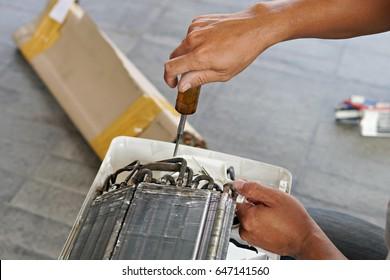 Fix Broken AC condenser