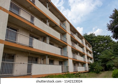 A fixed apartment complex for demolition / Matsubara apartment complex in Soka city, Saitama, Japan
