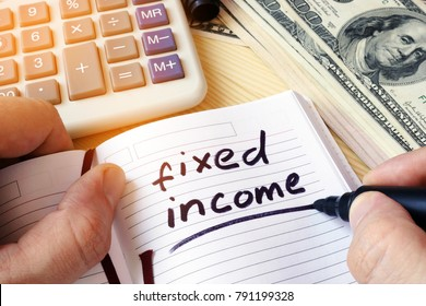 Fixed income written in a note.