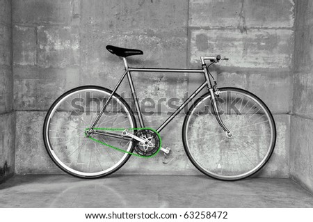 Fixedgear Bicycle Also Called Fixie Black Stock Photo Edit Now