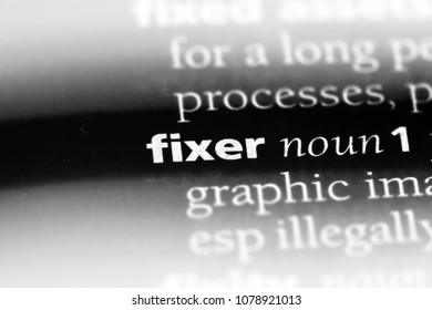 fixer word in a dictionary. fixer concept