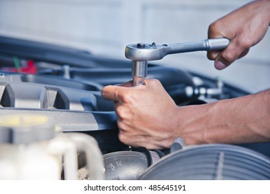 Fixing a car, Check the condition of the car engine.