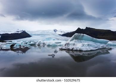 Fjallsarlon glacial lagoon. Iceland