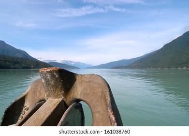Fjord in Canada / Idyllic fjord on the Pacific coast of Canada near Bella Coola