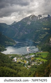 Fjord and mountain n Norway