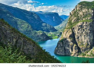 A fjord in Norway on a sunny day
