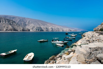 Fjords of Musandam peninsula near Khasab in Oman