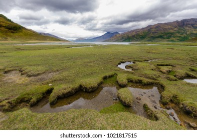 Fjords in Scotland Highland seen from the Cape Wrath trail