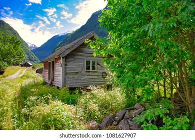 Flaamsdalen near flaam in Aurland Norway