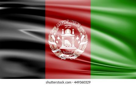 Flag of Afghanistan 3D, silk texture
