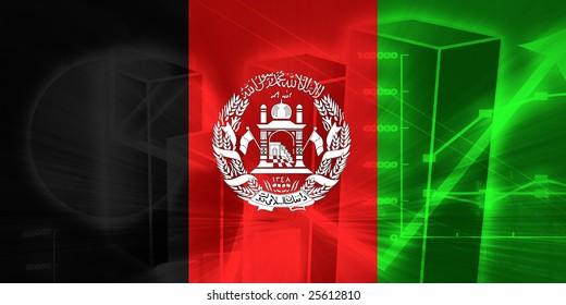 Flag of Afghanistan, national country symbol illustration