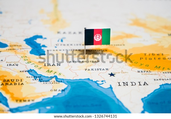 Flag Afghanistan World Map Stock Photo (Edit Now) 1326744131