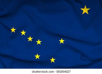 Flag of Alaska state (USA)