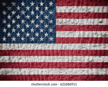 Flag of America, backgrounds, textures, blurred images.