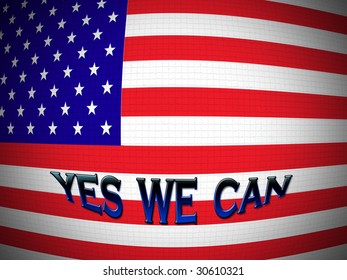 Flag of America with the reference of hope for the future