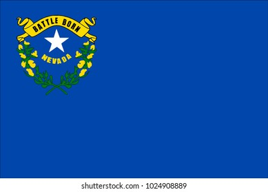 The flag of the American state of Nevada