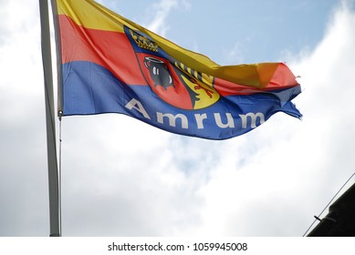 Flag of Amrum. Amrum (Germany).Amrum is one of the North Frisian Islands on the German North Sea coast, south of Sylt and west of Foehr