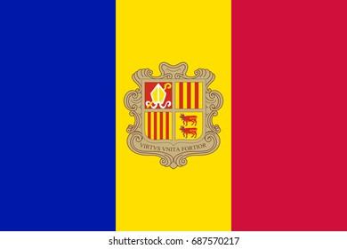 Flag of Andorra National symbol.