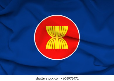 The flag of the Association of Southeast Asian Nations
