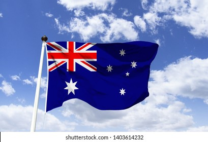 Flag of Australia, has a large seven-pointed star, known as federation star, a five-star tale, the Southern Cross, depicts the sidereal passage number 13, and a small flag of the United Kingdom.