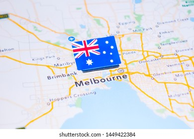 Melbourne Australia World Map.Melbourne Australia World Map Images Stock Photos Vectors