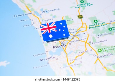 Perth In Australia Map.Perth Map Images Stock Photos Vectors Shutterstock