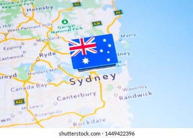 Sydney Australia World Map.Fotos Imagenes Y Otros Productos Fotograficos De Stock Sobre Map Of