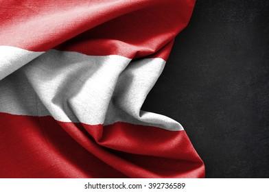 Flag of Austria on blackboard background