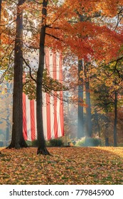 Flag in Autumn Trees