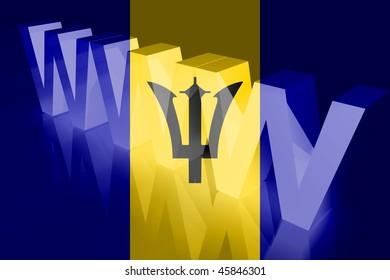 Flag of Barbados, national symbol illustration clipart www internet e-commerce