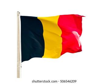 Flag of Belgium, isolated on white background