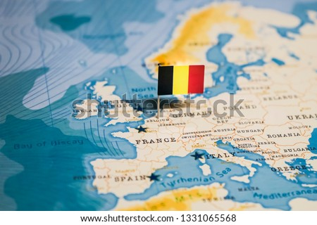 Flag Belgium World Map Stock Photo (Edit Now) 1331065568 - Shutterstock