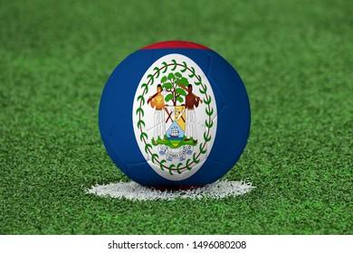 Flag of Belize on Football Belize Flag on soccer ball