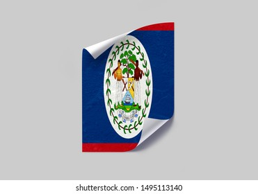 Flag of Belize Poster on Wall. Belize Flag on Wall.