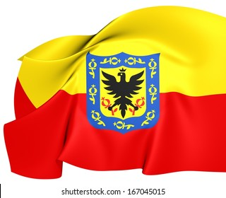 Flag of Bogota, Colombia.