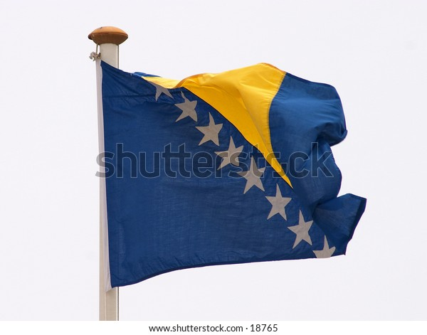 The flag of Bosnia and Herzegovina