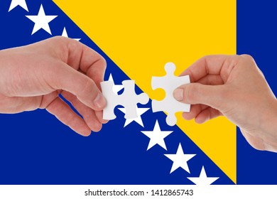 Flag of Bosnia and Herzegovina, intergration of a multicultural group of young people