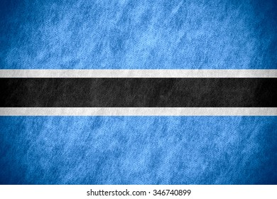flag of Botswana or banner on canvas texture