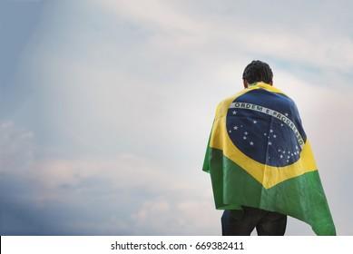 Flag Brazil Sad