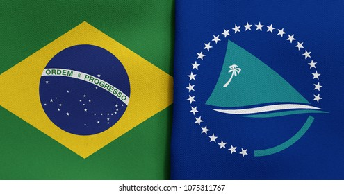 Flag of Brazil and Secretariat of the Pacific Community