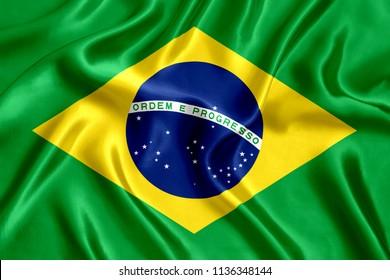 Flag of Brazil Silk