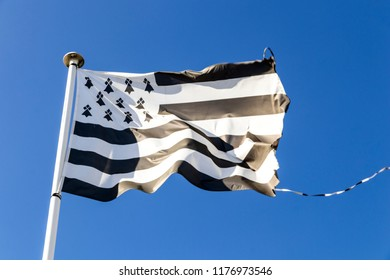 Flag of Brittany (Bretagne), called the Gwenn-ha-du, which means white and black in Breton