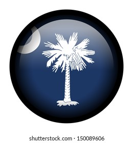 Flag button illustration with black frame - South Carolina