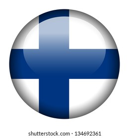 Flag button illustration - Finland