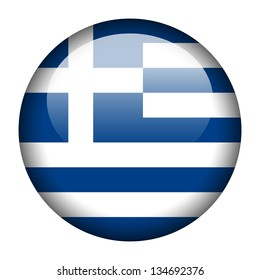 Flag button illustration - Greece