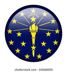 Flag button illustration - Indiana