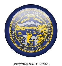 Flag button illustration - Nebraska