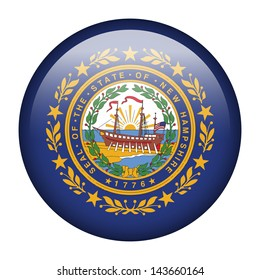 Flag button illustration - New Hampshire