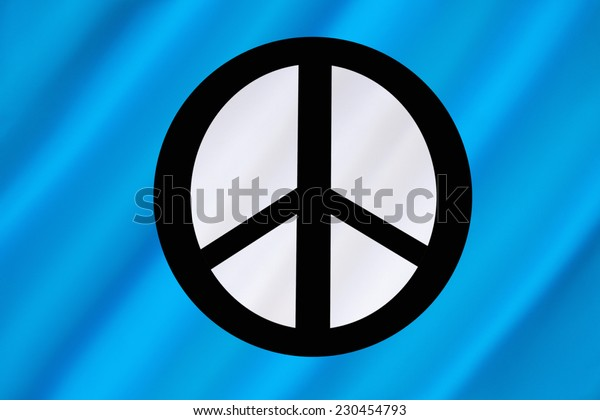Flag of the Campaign for Nuclear Disarmament  (CND) - a British organization which campaigns for the abolition of nuclear weapons worldwide and calls for unilateral disarmament.